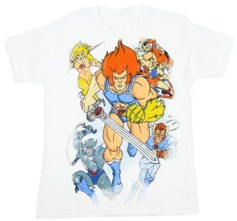 Amazon.co.jp: 10653 サンダーキャッツ Tシャツ Thundercats Distressed: 服&ファッション小物