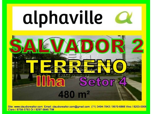 Terreno a venda Alphaville Salvador 2, 4ª etapa, 480 m2.