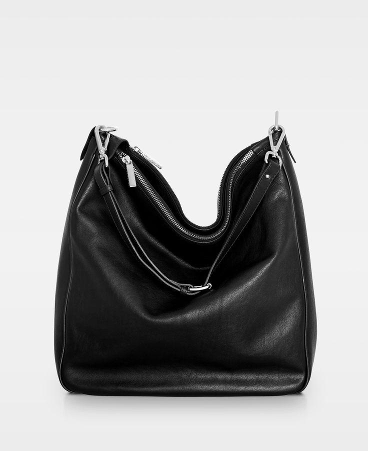 DECADENT Soft triple cross body bag - Black
