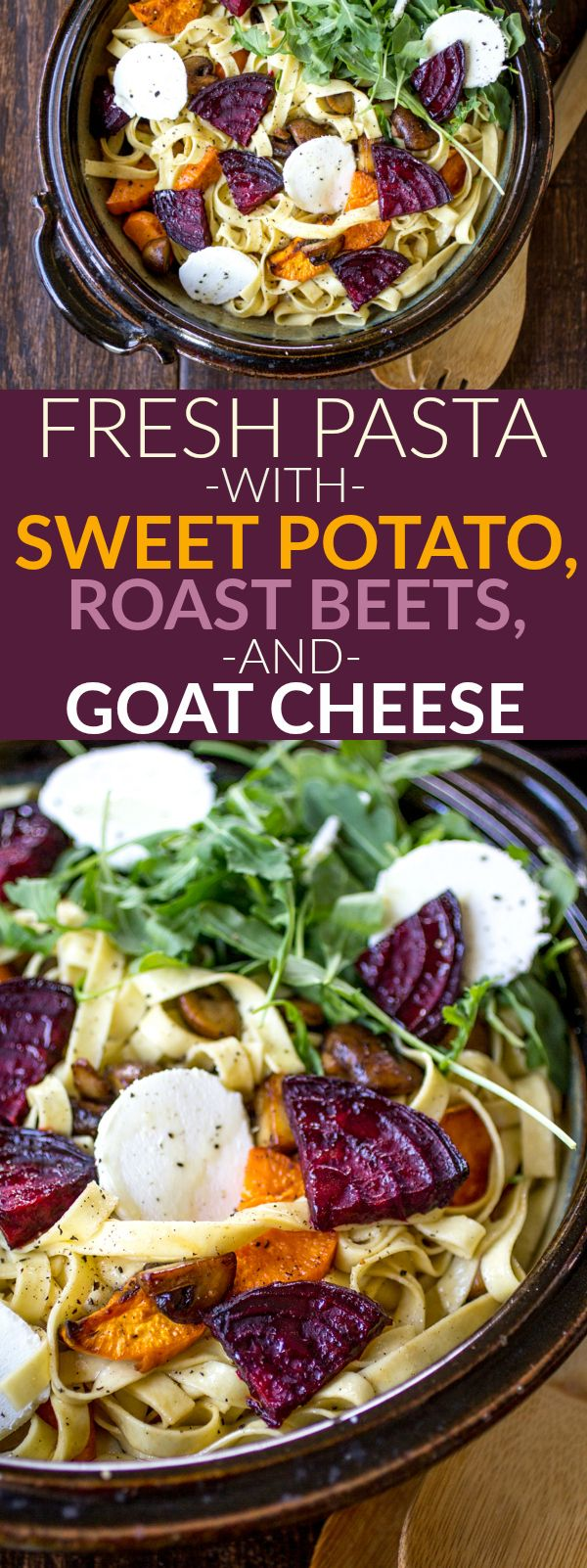 Fresh Pasta with Sweet Potato, Roasted Beet, and Goat Cheese http://thewanderlustkitchen.com/fresh-pasta-sweet-potato-roasted-beet-goat-cheese/