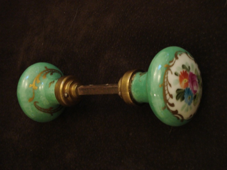antique porcelain door knobs.  Antique Flowers On An Old Door Knob Intended Antique Porcelain Door Knobs Q