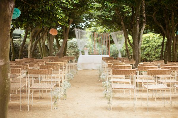 A DIY Portugal Wedding in Teal and Coral
