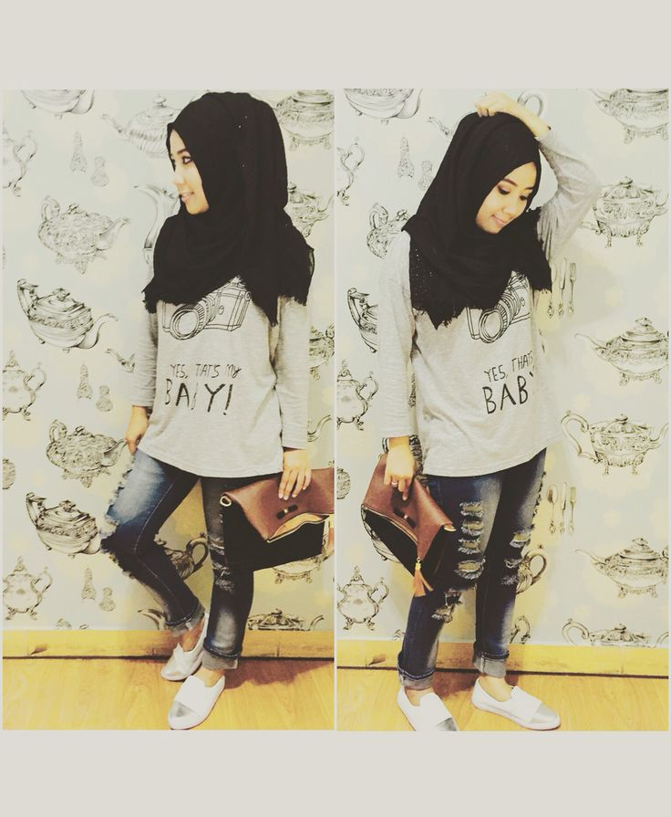 Casual style for hijaber..