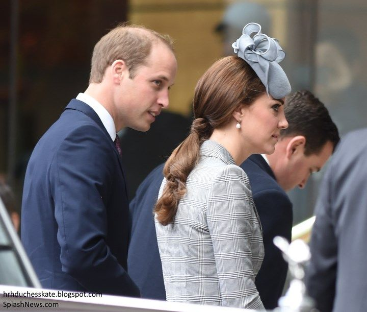 duchesskate:  Singapore State Visit to Great Britain, October 21, 2014-The Duke and Duchess of Cambridge; the Duchess wore her hair in a half-poneytail with her Jane Taylor hat