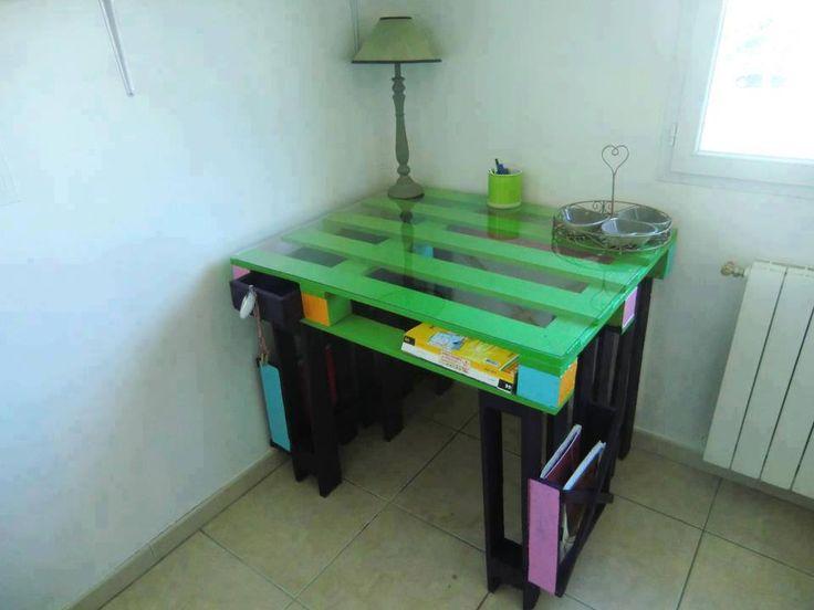 Schreibtisch Diy möbel ideen, Palettenholz, Dekor
