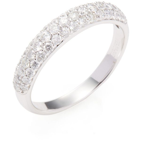 EFFY Women's Pave Classica Diamond Ring - Size 7 ($1,040) ❤ liked on Polyvore featuring jewelry, rings, no color, effy jewelry, effy jewelry rings, diamond rings, 14 karat diamond ring and 14 karat gold ring