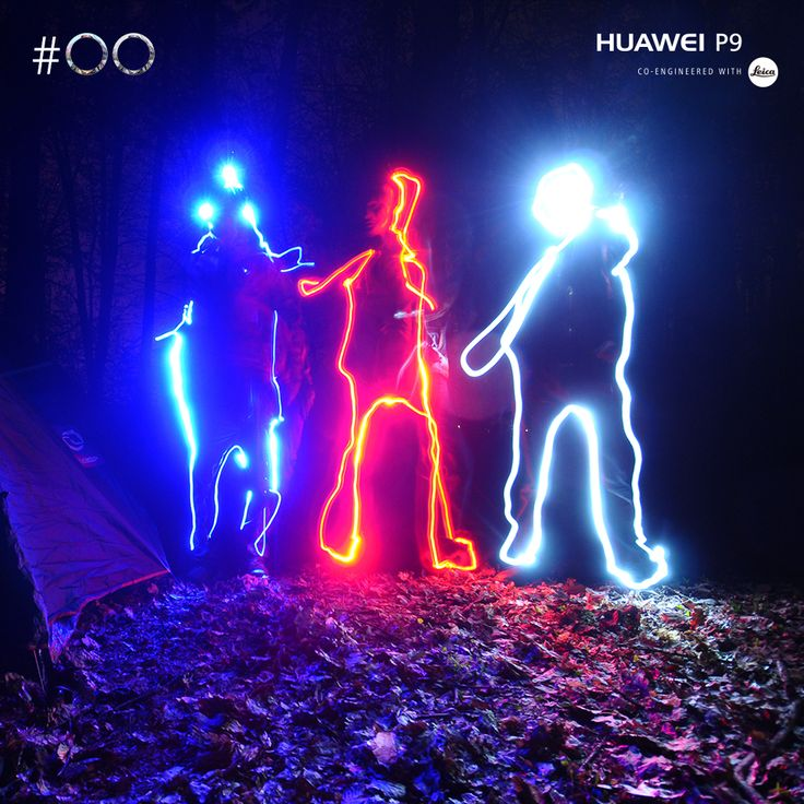 """Select the """"Light Painting"""" mode on your #HuaweiP9, aim at a #scenery of your choice and shoot to add #light trails to the image."""