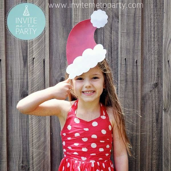 Santa Hat Photo Prop  Invite Me To Party: Christmas Photo Booth Props