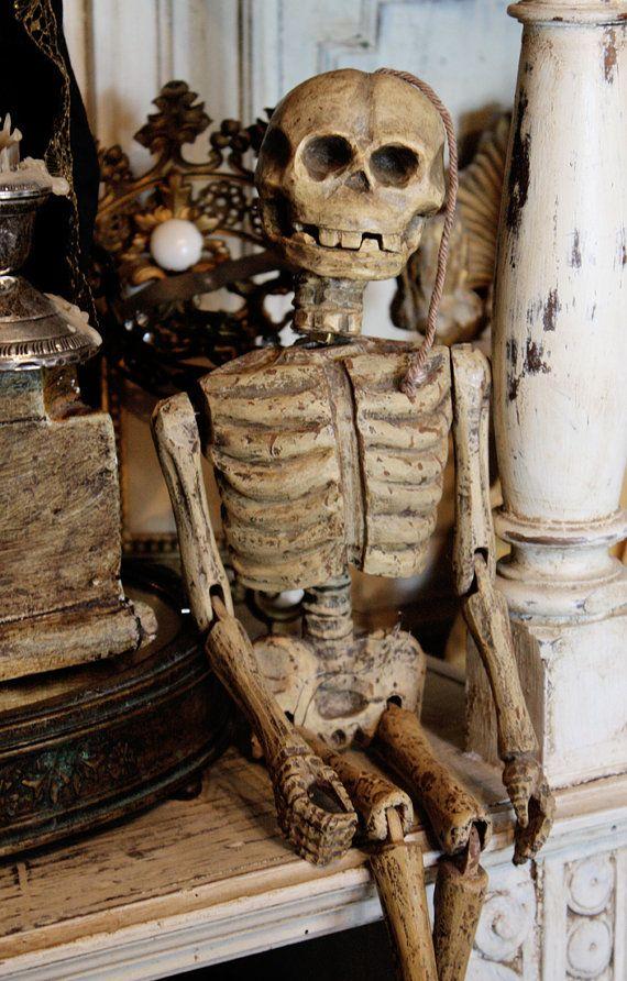 Antique Marionette Skeleton Puppet