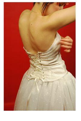 Duchesse cream corset and ballerina skirt