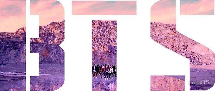 «Desert - Bangtan BTS Not Today Logo» de amiar15
