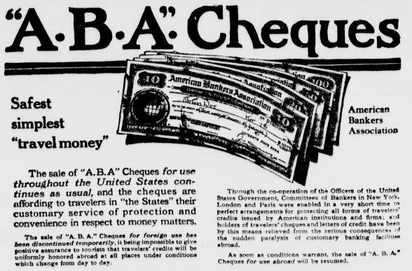 alte traveler cheques einlösen