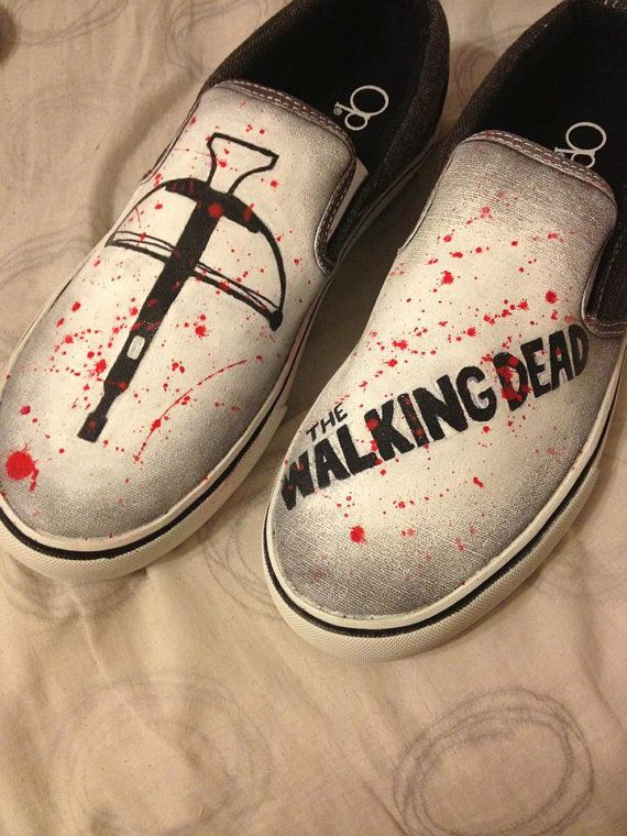 Size 9.5 or 10The Walking Dead Daryl Dixon bow shoes by TheKickShop on Etsy, $45.00
