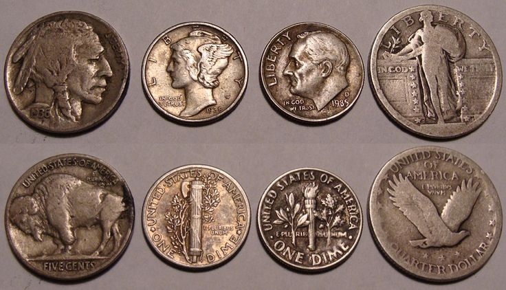Old U.S. coins. photo by oceandesetoiles on Flickr