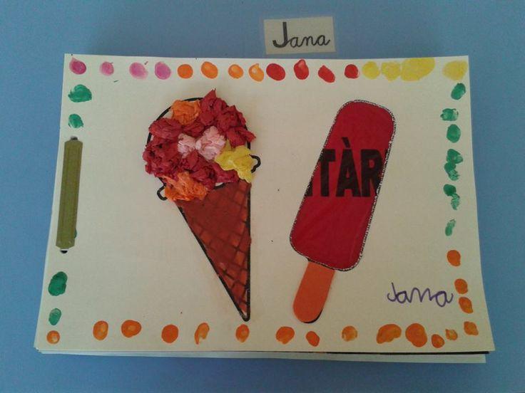 Tapa feta pels infants de P5, molt refrescant i divertida cedida per Anna Boronat.