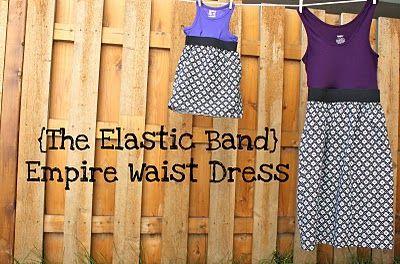 Empire waist elastic band dress: Empire Waist Dresses, Dresses Tutorials, Sewing Projects, Elastic Bands, Empire Dresses, Tanks Tops, Bands Dresses, Smash Peas, Bands Empire