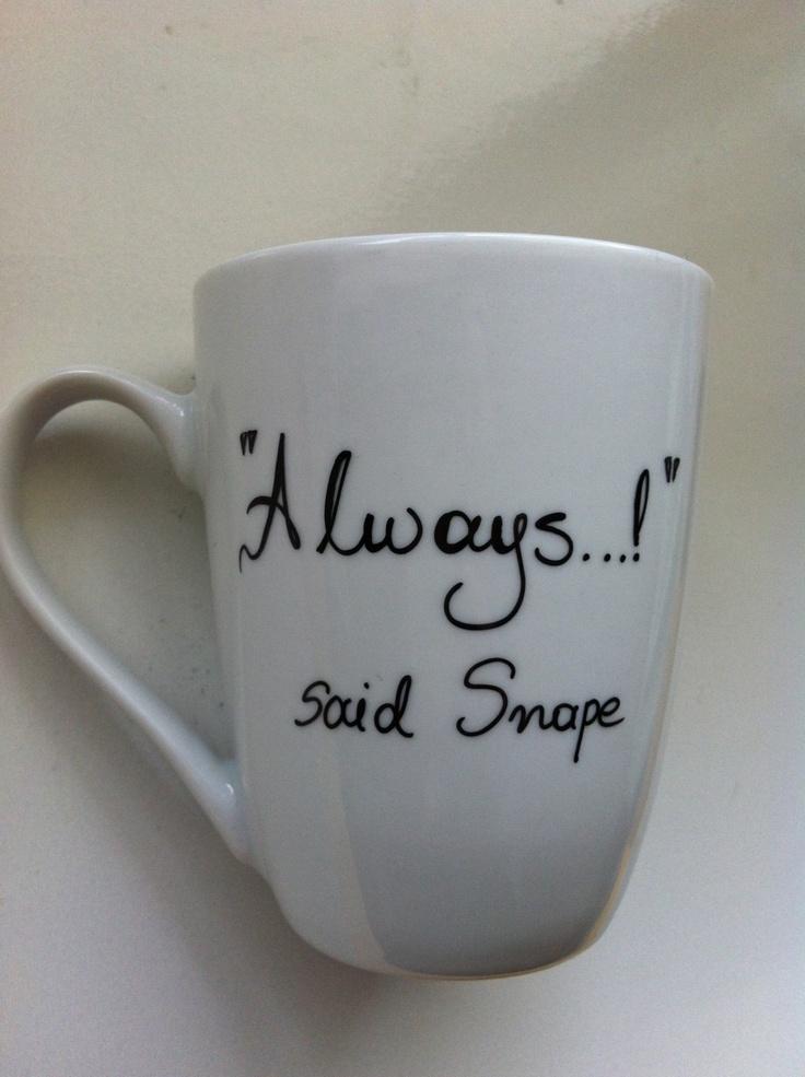 Harry Potter Mug Dumbledore  Snape by litsakiv on Etsy, $18.00