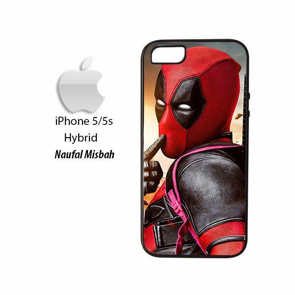 Deadpool Shut Up Marvel iPhone 5/5s HYBRID Case Cover