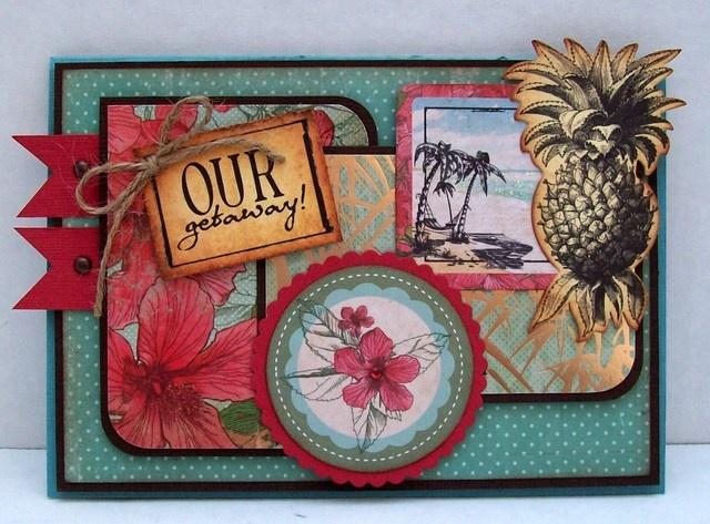 Kaisercraft - Tropicana collection Mini Album Scrapbook layout Best of Betsy's - made using Kaisercraft's Tropicana