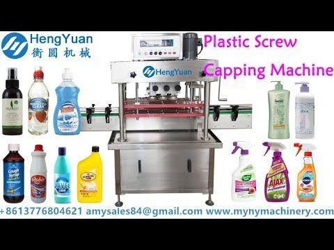 General purpose widely used plastic screw lid capping machine for shampo...