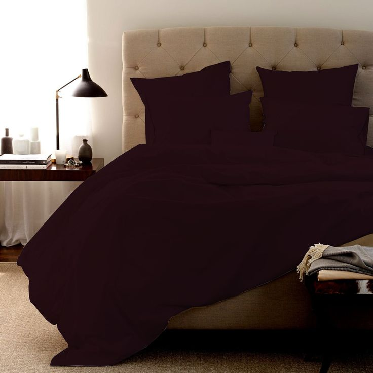 FINE LECHO Soft Egyptian Cotton Luxury Hotel Quality 3-Piece Duvet Cover Set (Zipper Closure & Corner Ties) with 1-Piece Flat Sheet 800 Thead Count Modern Style Set (Full XL, Wine)