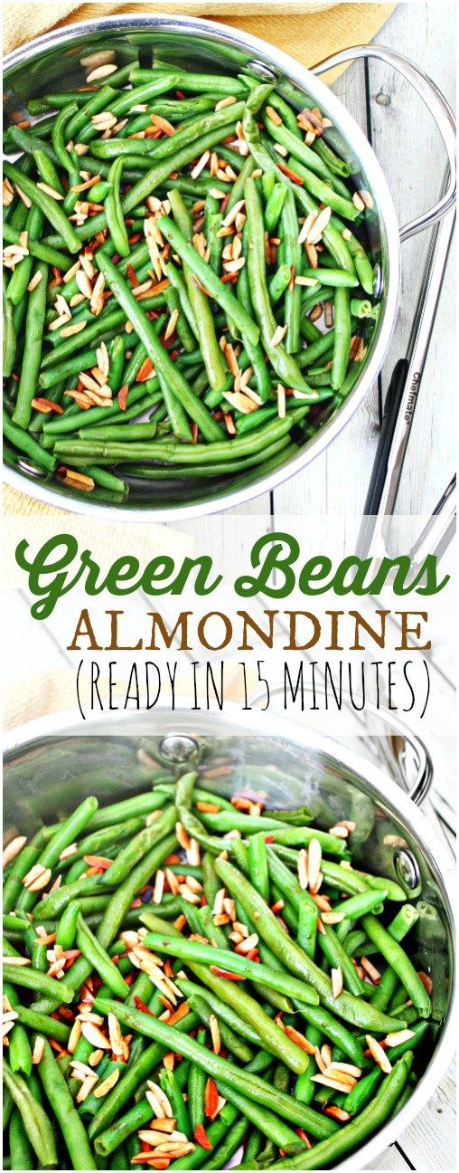 Green Beans Almondine - a perfect year-round side dish!