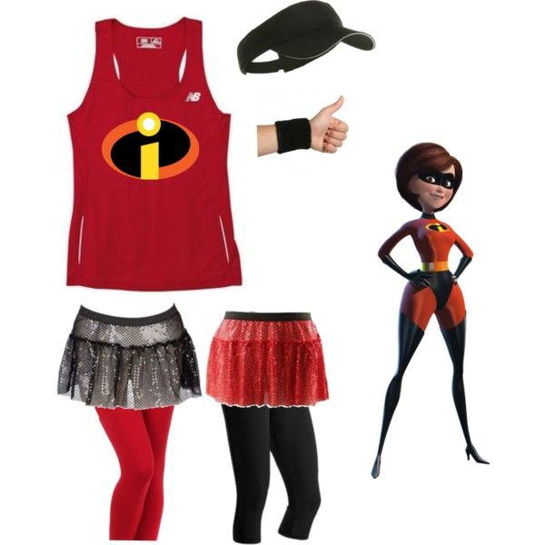 """Incredibles running costume"" by maramarrie on Polyvore"