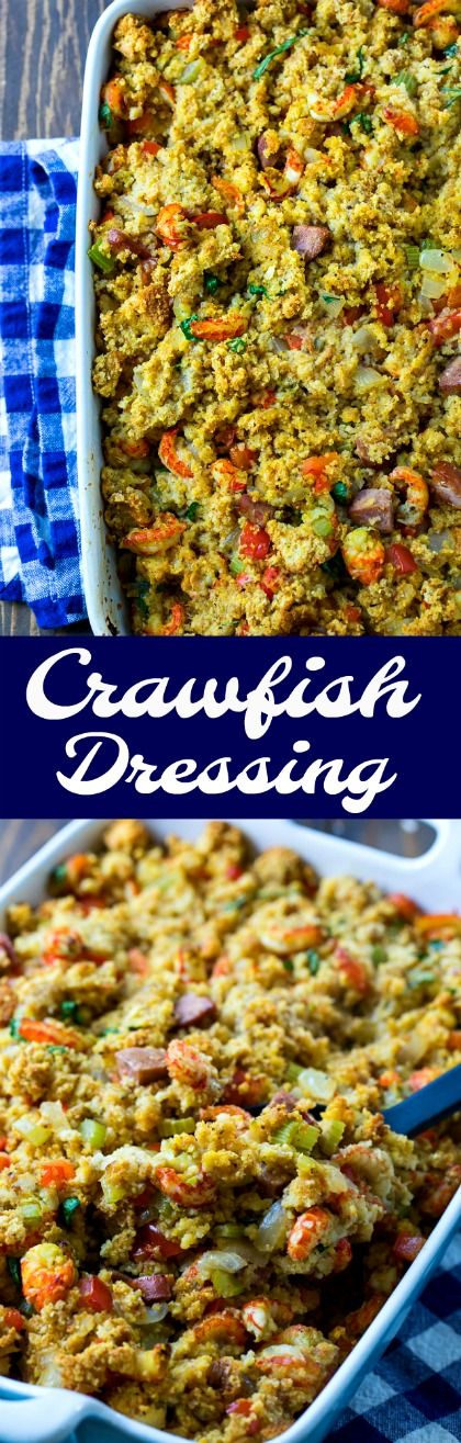 Crawfish Dressing is perfect for a southern Thanksgiving #thanksgiving #southernfood