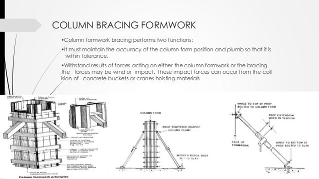 FORMWORK FOR BEAM  Beam soffit must be thickened timber or strengthened plywood.  Beam sides 18mm plywood or 25mm boards...