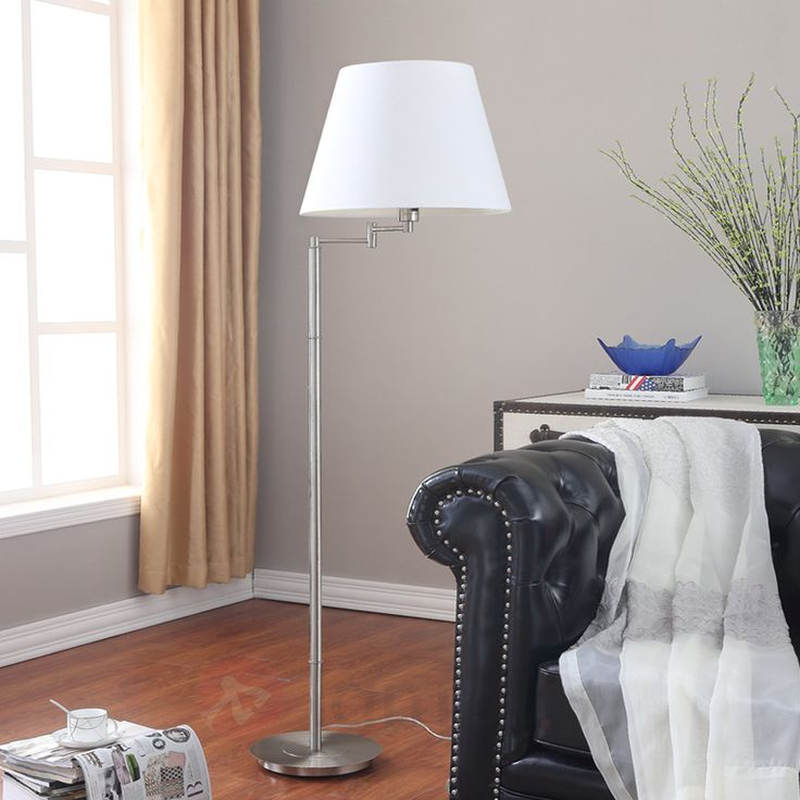 Atrakcyjna lampa stojąca POLA z białym abażurem 9620654