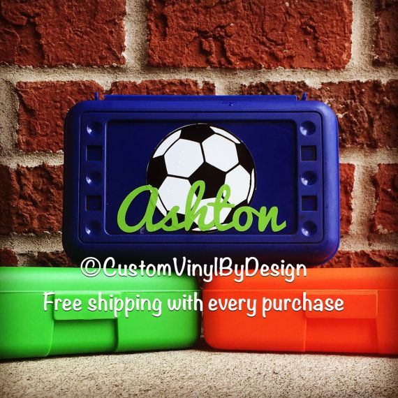 Welcome to our Etsy shop Custom Vinyl By Design! Home of handmade, high quality, and free shipping with every purchase. This listing includes one personalized pencil box. The pencil box is durable, long lasting with a snap top. Great for crayons, pencils, and markers. Pencil box dimensions 8.5 x 5.5 x 2. We personalize each pencil box with the highest quality outdoor vinyl. Made to last and can be wiped clean when needed. Choose from over 30 colors and patterns to personalize your pencil…