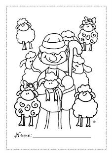 Love this picture of a shepherd. Use for David or Jesus... Coloring page