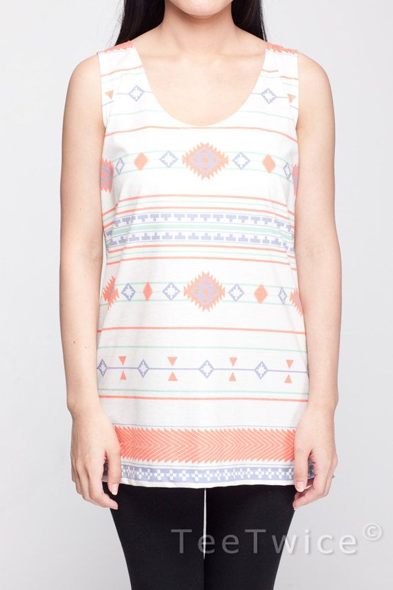 Tribal Shirt Aztec Geometry Gothic Indian Shirt Women Tank Top White Shirt Tunic Top Vest Sleeveless Women T-Shirt