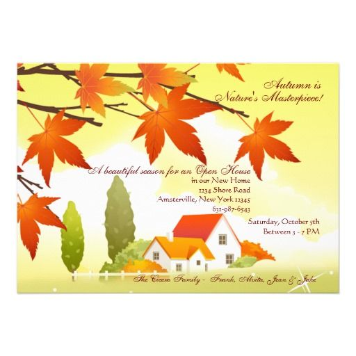 House Warming Invitation Wording – Fall Party Invitation Wording
