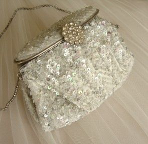 £60 Noly Fuentes Bliss Beaded Bridal Handbag FREE DELIVERY