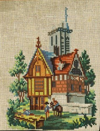 A Berlin WoolWork Building Pattern