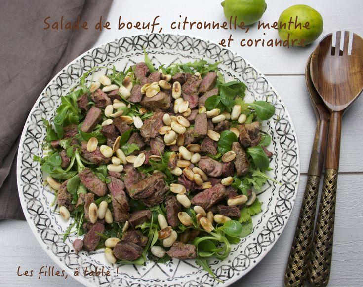Salade de boeuf, citronnelle, menthe et coriandre