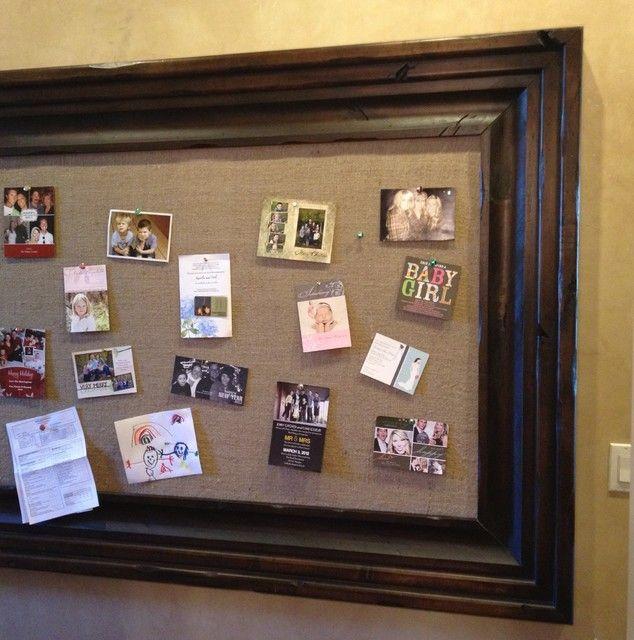 burlap bulletin board traditional bulletin board