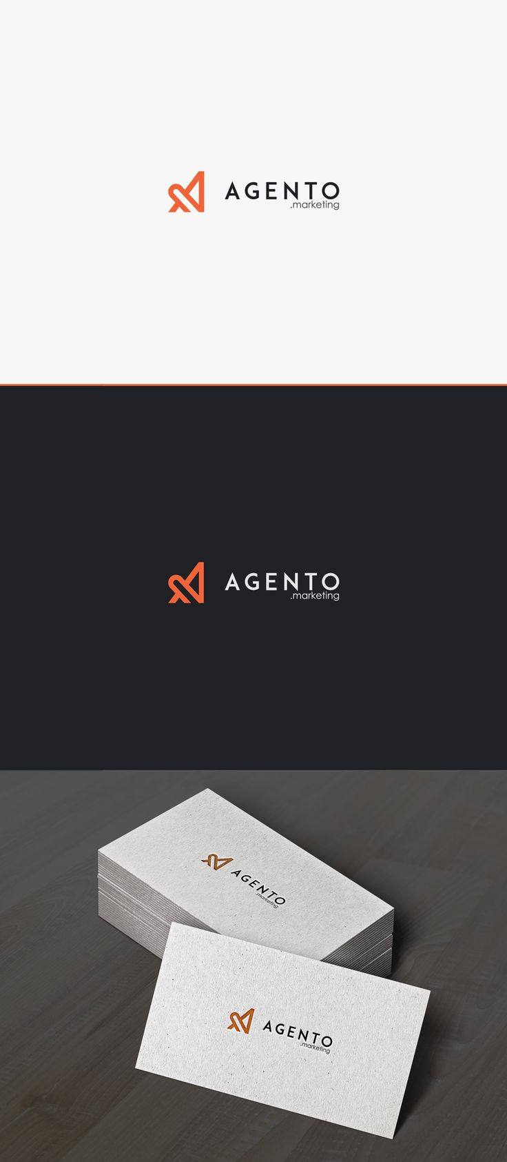 simple, sophisticated and modern logo for Agento.marketing | 99designs