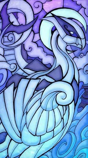 Lugia stained glass