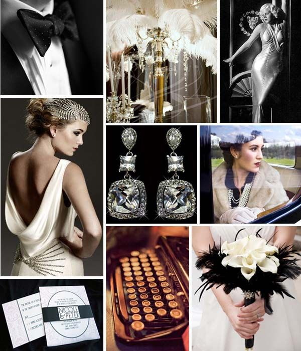 old hollywood glamour wedding | Swashbuckle The Aisle: A Vintage Hollywood Wedding: A 1930's and Board