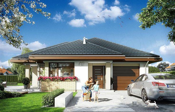 Casa de vis fara etaj cu garaj – proiect detaliat cu fotografii