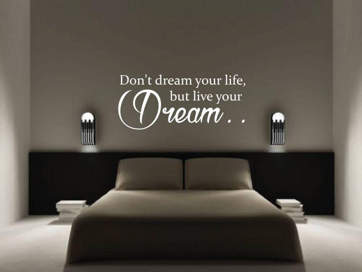 Muursticker Don't dream your life, but live your dream ✓Gratis verzonden ✓Groot assortiment ✓Eigen ontwerp mogelijk ✓Gratis proef/kleurstal ✓Topkwaliteit