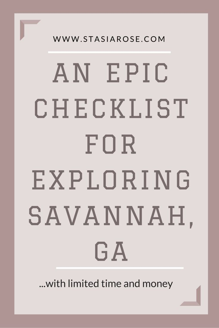 Explore Savannah, GA with limited time and money! #savannah #budget #vacation…