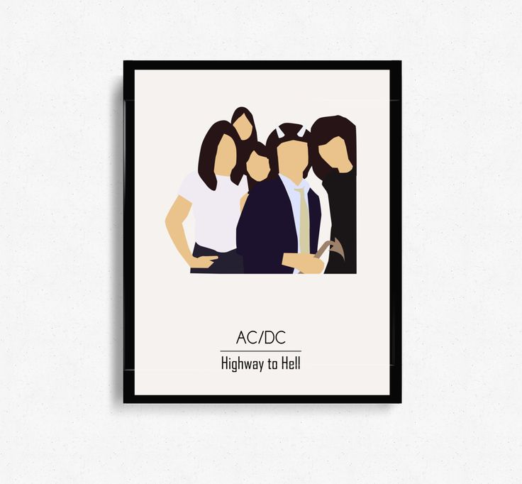 Highway To Hell by ACDC Album Cover - Music Inspired Art
