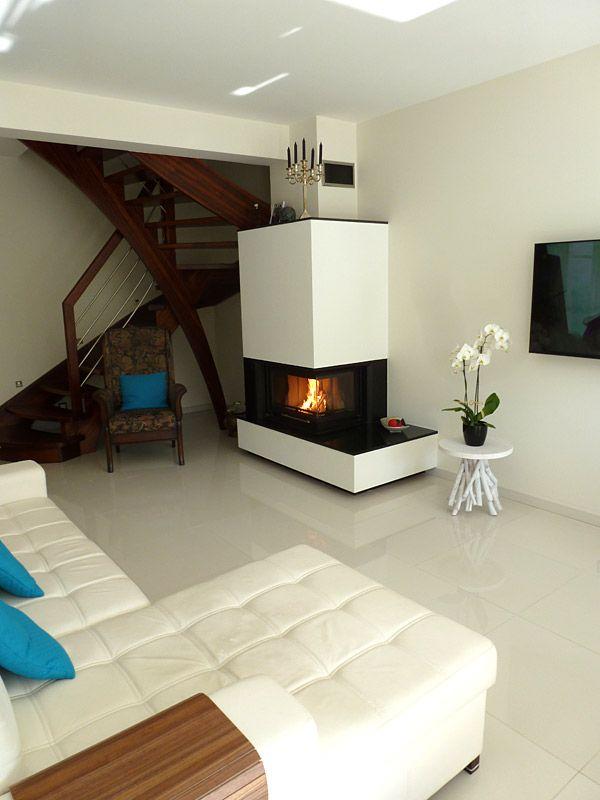 Very interesting minimalist composition fireplace horn. www.kominkimyslowice.pl #fireplace #modernstove