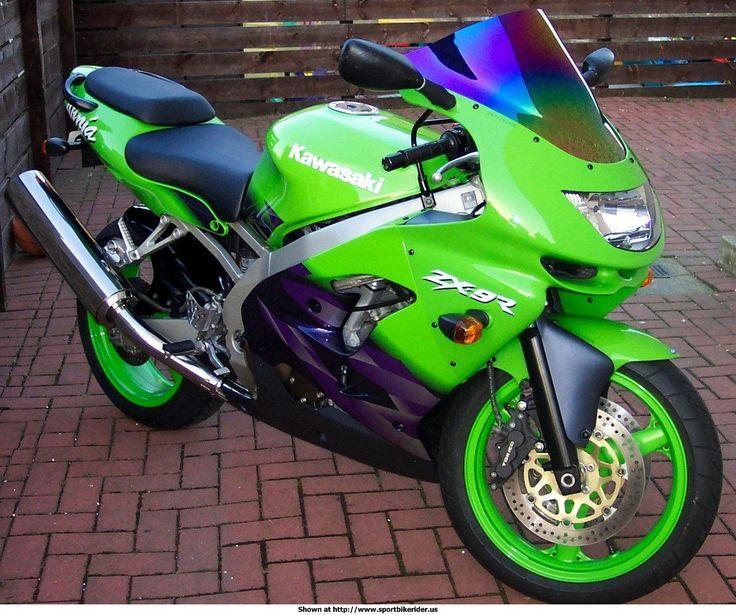 Kawasaki ZX-9R. Puts the MOTOR in MOTORcycle.
