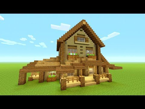 http://minecraftstream.com/minecraft-tutorials/minecraft-building-tutorial-how-to-build-big-wooden-house-big-rustic-house-tutorial-huge/ - Minecraft Building Tutorial: How to build BIG wooden house | BIG RUSTIC HOUSE TUTORIAL | HUGE Minecraft: How to make a wooden house tutorial ( Rustic house tutorial) [ how to build ] This is a big survival house that looks rustic and cabin style with a lodge house feel. Made from oak and spruce and birch. Slap That Like And Help This Go
