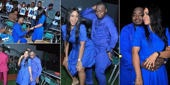 Nigerian Lady twerks for her man, after he proposed to her, and she said yes (photos)