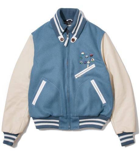 Garbstore Light Blue Golden Bear Vintage Varsity Jacket